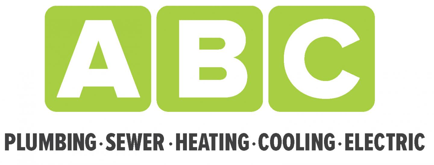 HVAC Contractor  ABC Plumbing, Sewer, Heating, Cooling, and Electric Logo